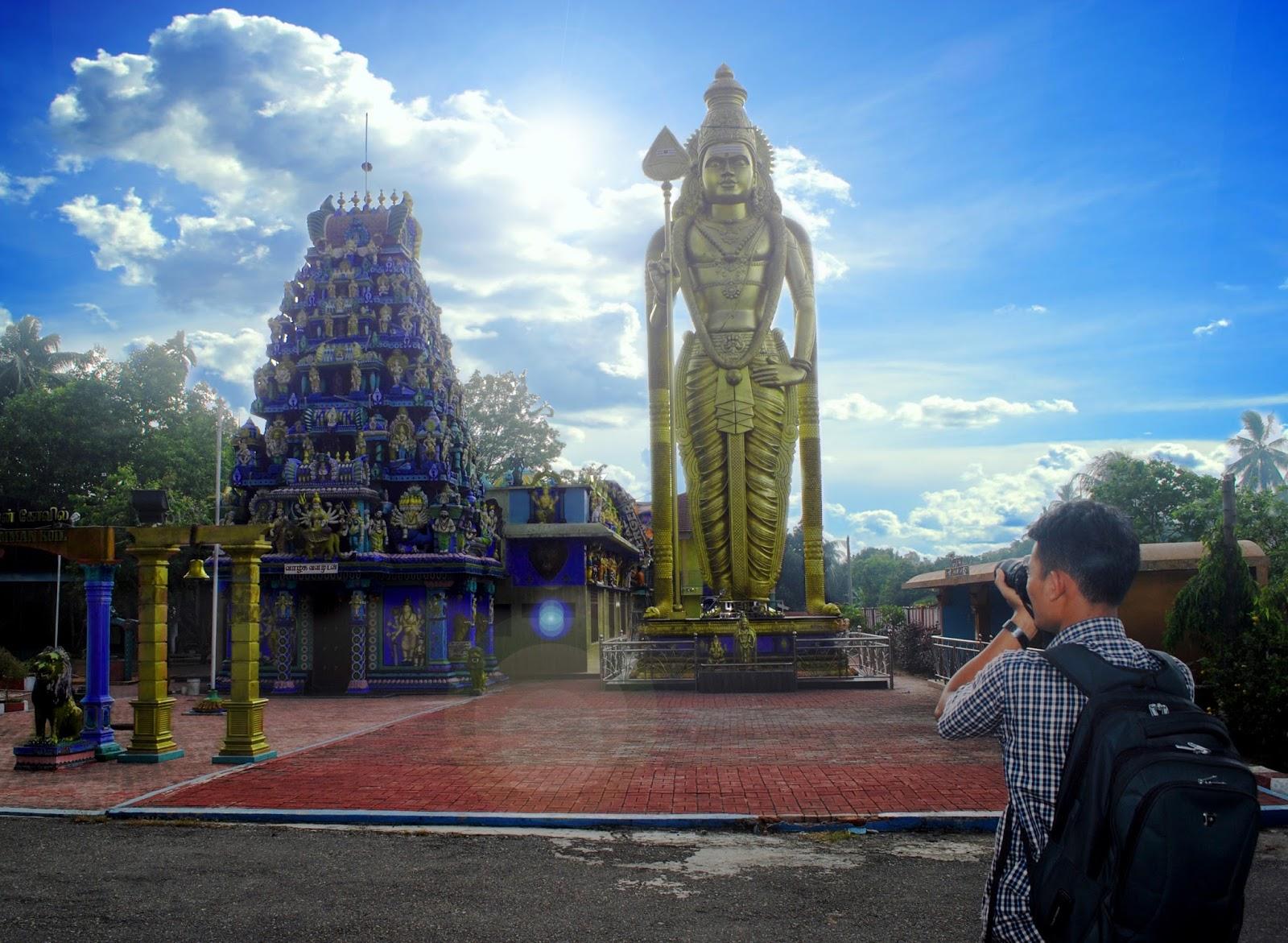 Wisata ala luar negeri di Indonesia - patung Dewa Murugan di Langkat, Sumut
