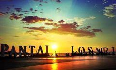 Sunset di Pantai Losari, Makassar