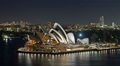 Sydney Opera House Night View